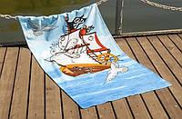 Велюровое полотенце Lotus пляжное Sailboat 75*150