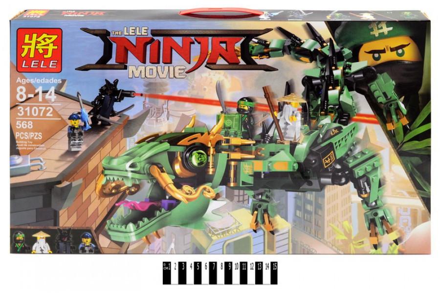 Конструктор Lele Ninja 31072 Механический Дракон Зелёного Ниндзя (Анал