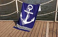 Велюровое полотенце Lotus пляжное Deep Sea 75*150