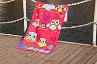 Велюровое полотенце Lotus пляжное Owls 75*150