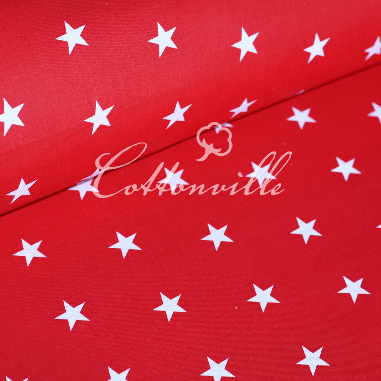 Бязь Звездочки на красном (22 мм)