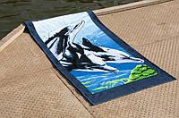 Велюровое полотенце Lotus пляжное Dolphins 75*150