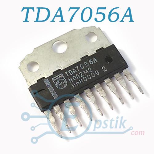 TDA7056A, аудио усилитель с мостовым включением нагрузки, 3Вт, 3В-18В, HSIP9