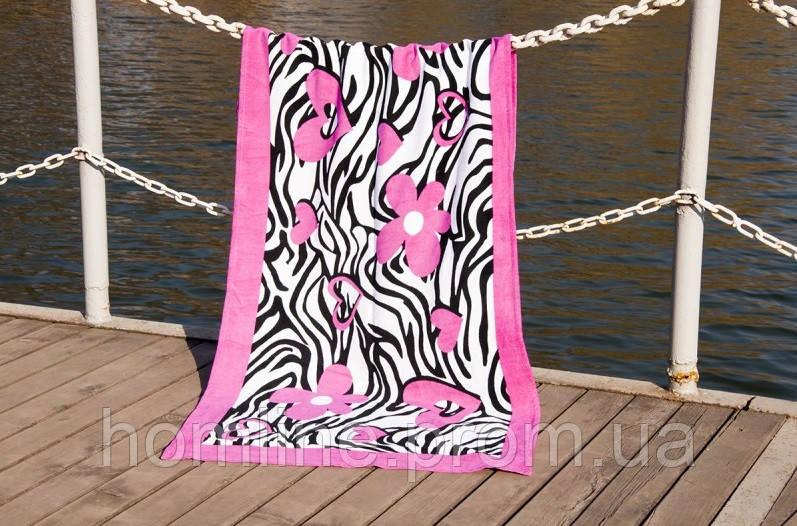 Велюровое полотенце Lotus пляжное Good Mood 75*150