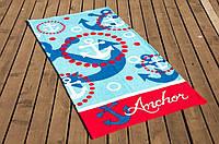 Велюровое полотенце Lotus пляжное Anchor 75*150