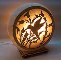 Соляная лампа круглая Колибри