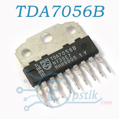 TDA7056B, Аудио усилитель мостовой, 5Вт, 4.5В-18В, HSIP-9