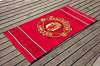 Велюровое полотенце Lotus пляжное Manchester United 75*150