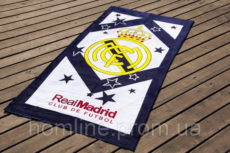 Велюровое полотенце Lotus пляжное Real Madrid 75*150