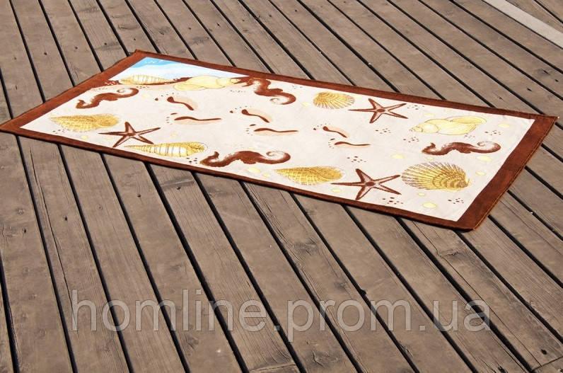 Велюровое полотенце Lotus пляжное Sea Shell 75*150