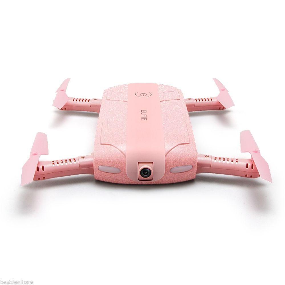 Ексклюзивний рожевий селфи дрон - квадрокоптер JJRC H37 ELFIE RC Mini WiFi FPV HD G-sensor Headless