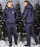 Мужской теплый спортивный костюм 1049 в расцветках
