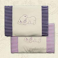 Плед утепленный детский Соня с вышивкой Бетис велюр-кулир в полоску  цвет лиловый