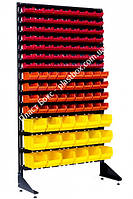 Стеллаж складской металлический с боксами на 117 шт. Ямполь, фото 1