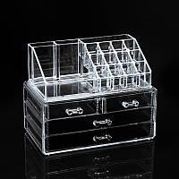 Акриловый органайзер для косметики Cosmetic Organizer Storage Box 24×14×19 см