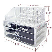 Акриловый ящик-органайзер для косметики Cosmetic Organizer Storage Box 24×14×19 см
