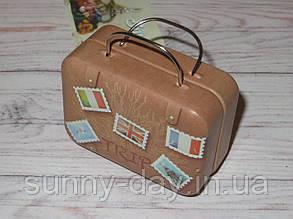 Коробочка для мелочей (игольница) - чемоданчик, принт №2