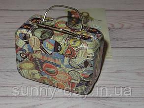 Коробочка для мелочей (игольница) - чемоданчик, принт №7