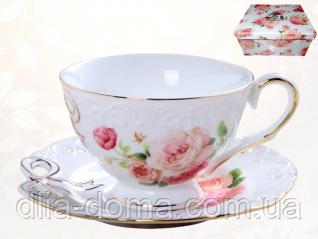 Чашка с блюдцем Бант (240мл, бл.15см)