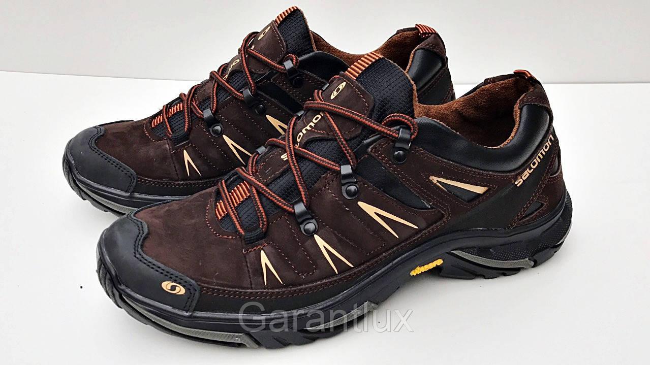 6c2a086c Мужские кроссовки Salomon коричневые натуральная кожа замшa 41р, фото 1