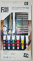 Набор 24 предмета Fine Art: краски масляные 6 цв., масляная пастель 12 шт., кисть, мастихин, карандаш, точилка