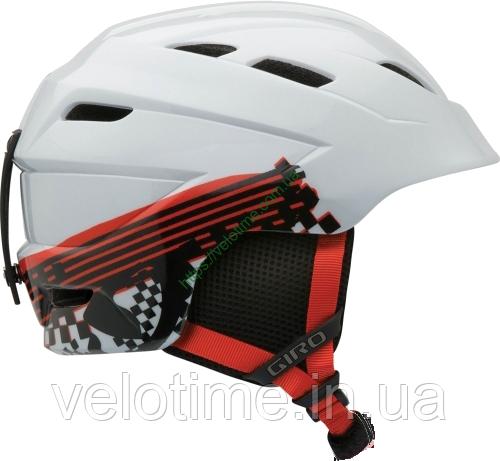 Шлем зим. Giro Nine.10 Jr  (55,5-59 см, белый Logo Streak)