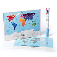 Скретч-карта мира Travel Map «Silver»