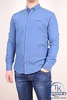 Рубашка мужская котоновая (цв.синий) Stendo 15-571 Размер:46,48,50,52