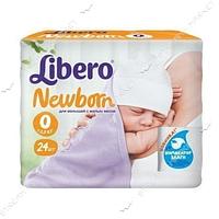 Libero Подгузники детские Newborn 0 (0-2.5кг) 24шт
