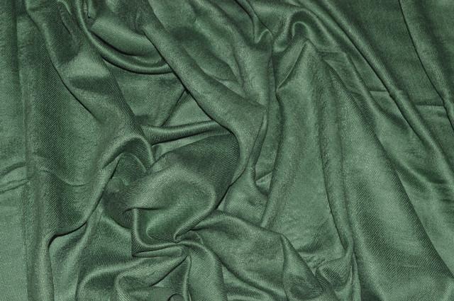 Палантин из кашемира однотонный травяной Фото 3
