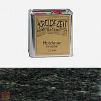 Натуральная  лазурь по дереву цветная Kreidezeit Holzlasur außen / Ebenholz / цвет черное дерево   2,5 l