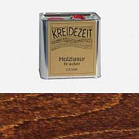 Натуральная  лазурь по дереву цветная Kreidezeit Holzlasur außen / Palisander / цвет палисандр  2,5 l