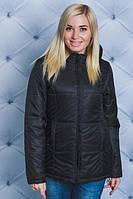 Куртка на синтепоне однотонная  черная ( в наличии большие размеры)