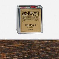 Натуральная  лазурь по дереву цветная Kreidezeit Holzlasur außen / Wenge / цвет венге  2,5 l