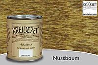 Натуральная  лазурь по дереву цветная Kreidezeit Holzlasur außen / Nussbaum / цвет грецкий орех  0,75 l