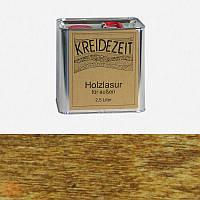Натуральная  лазурь по дереву цветная Kreidezeit Holzlasur außen / Nussbaum / цвет грецкий орех 2,5 l