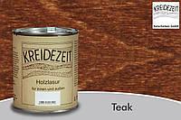 Натуральная  лазурь по дереву цветная Kreidezeit Holzlasur außen / Teak / цвет тик  0,75 l