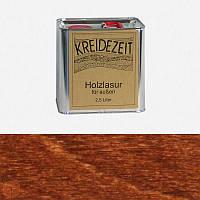 Натуральная  лазурь по дереву цветная Kreidezeit Holzlasur außen / Teak / цвет тик  2,5 l