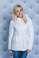 Куртка на синтепоне однотонная белая ( в наличии большие размеры)