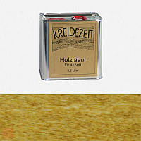 Натуральная  лазурь по дереву цветная Kreidezeit Holzlasur außen / Eiche hell / цвет светлый дуб  2,5 l
