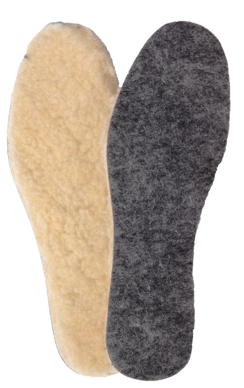 Зимние стельки фетровая с мехом «Фетр + мех»