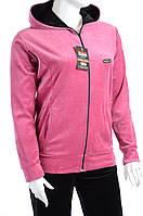 Велюровый спортивный костюм однотонный верх К100 Розовый, 3XL