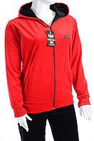 Велюровый спортивный костюм однотонный верх К100 Красный, 4XL