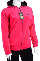 Велюровый спортивный костюм однотонный верх К100 Ярко розовый, XL