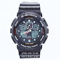 Мужские наручные часы Casio G-Shock AAA GA 100 Black-Red