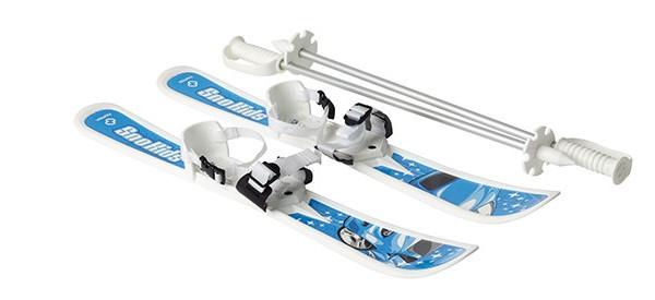 Лыжи с палками детские Sno kids (голубые)