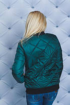 Куртка осень-весна темно-зеленая, фото 3