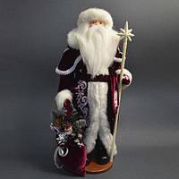 Дед Мороз 53 см с белым посохом 0455, фото 1