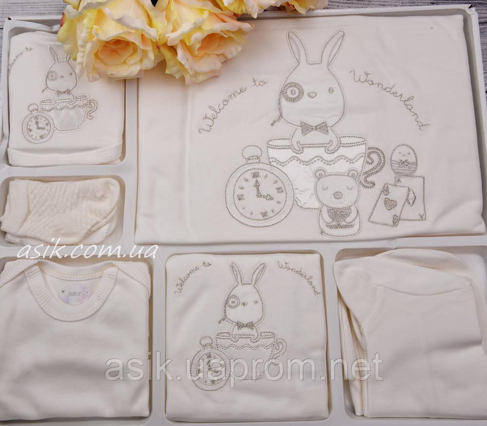 Крестильный набор для новорождённого из 10 предметов