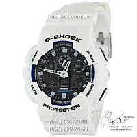 Мужские наручные часы Casio G-Shock AAA GA-100 White-Black Autolight